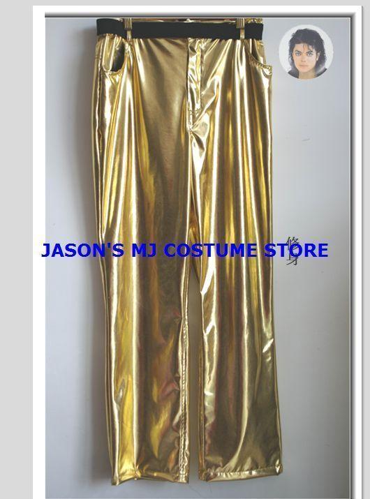 MICHAEL JACKSON GOLD HISTORY TOUR PANTS WITH BLACK BELT