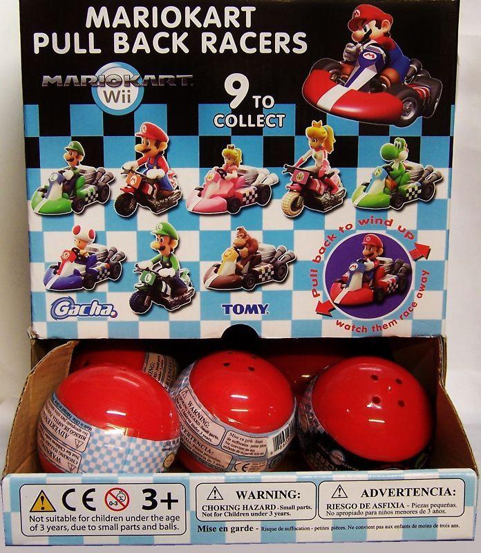 Pc SUPER MARIO KART Pull Back Racer New & RARE HOT