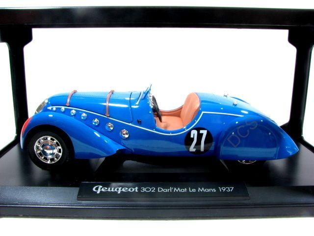 NOREV 1937 PEUGEOT 302 DARLMAT LE MANS BLUE 1/18 CAR