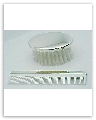 Sterling Silver Brush and Comb Set   Boys Made in USA