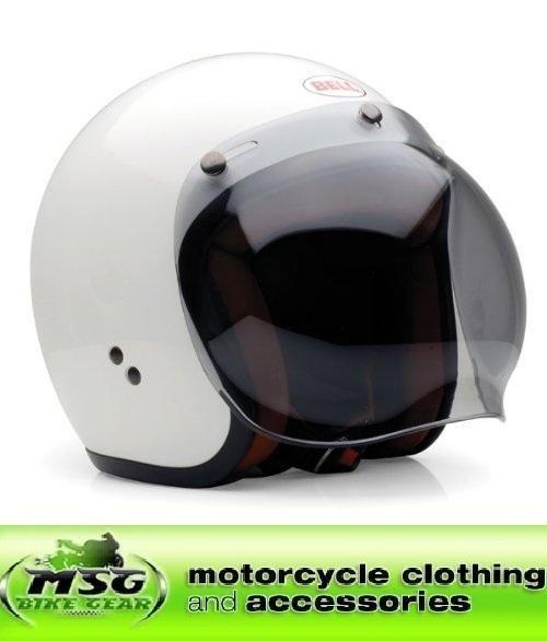 BELL R/T OPEN FACE SMOKE BUBBLE VISOR MOTORCYCLE HELMET